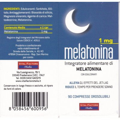 MELATONINA  1 mg  - 90 cpss VITAL FACTORS