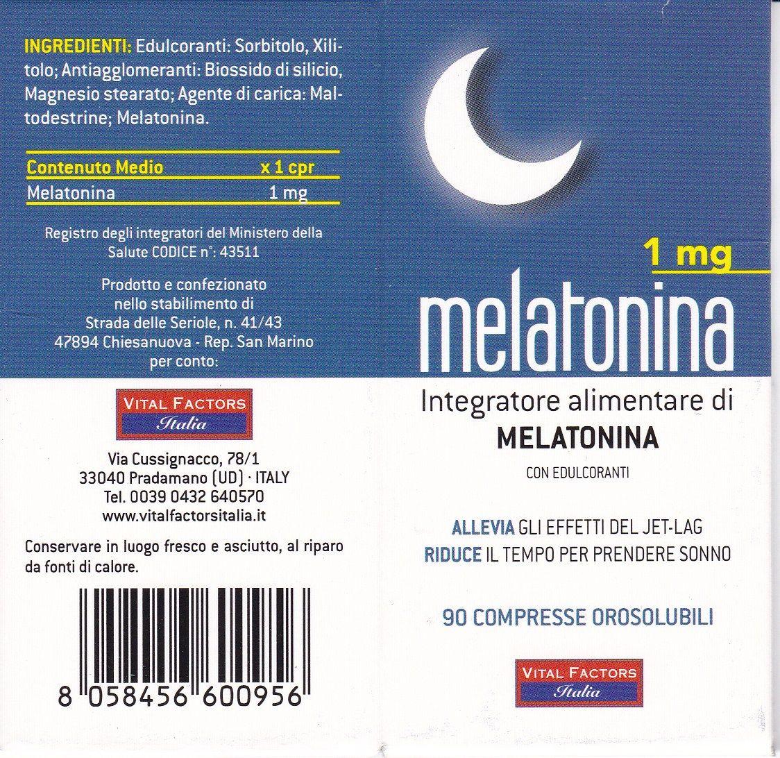 MELATONINA  1 mg  - 90 cpss VITAL FACTORS