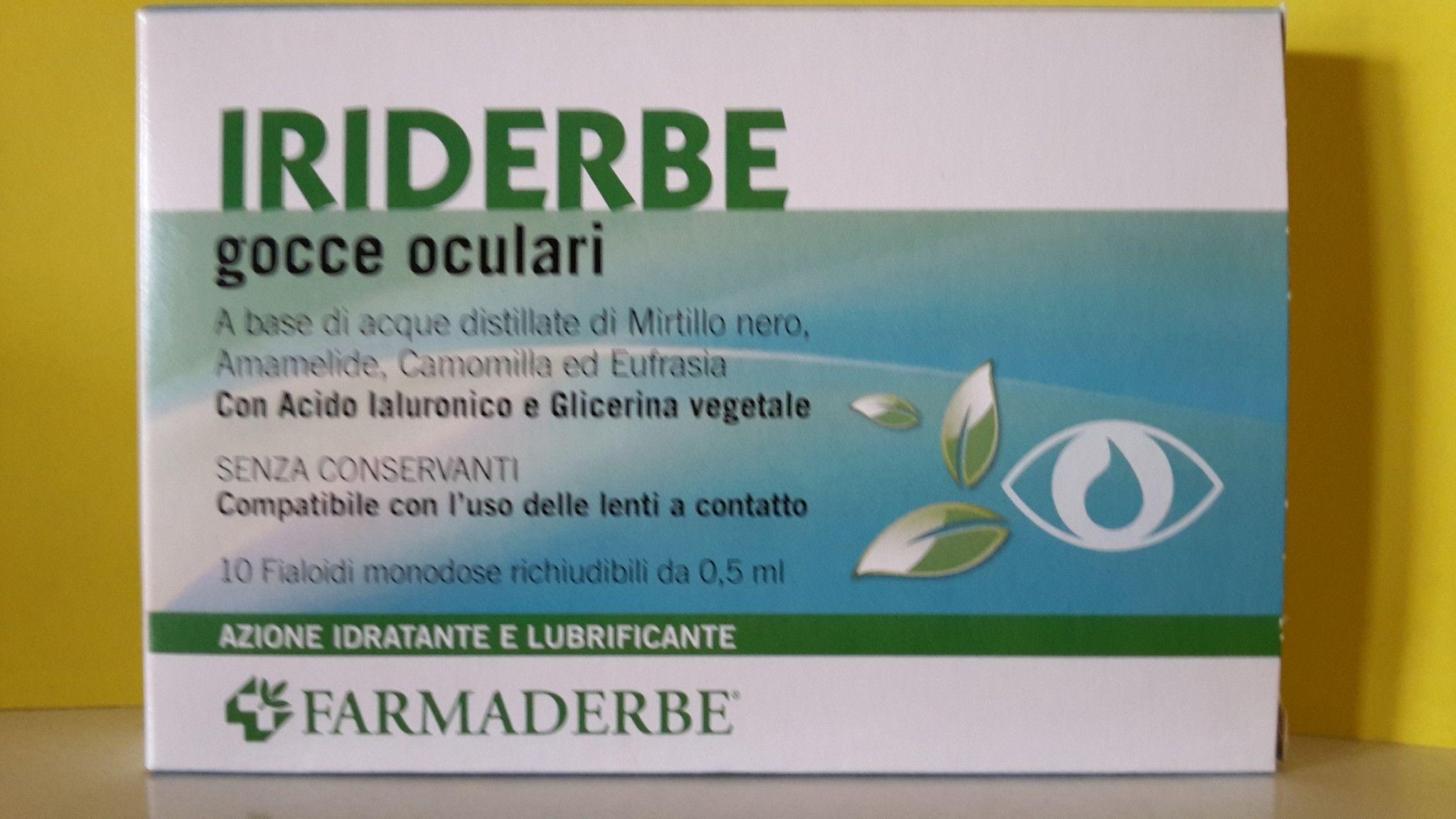 FARNMADERBE  COLLIRIO IRIDERBE  10 Fialoidi Monodose Richiudibili 0,5 ml