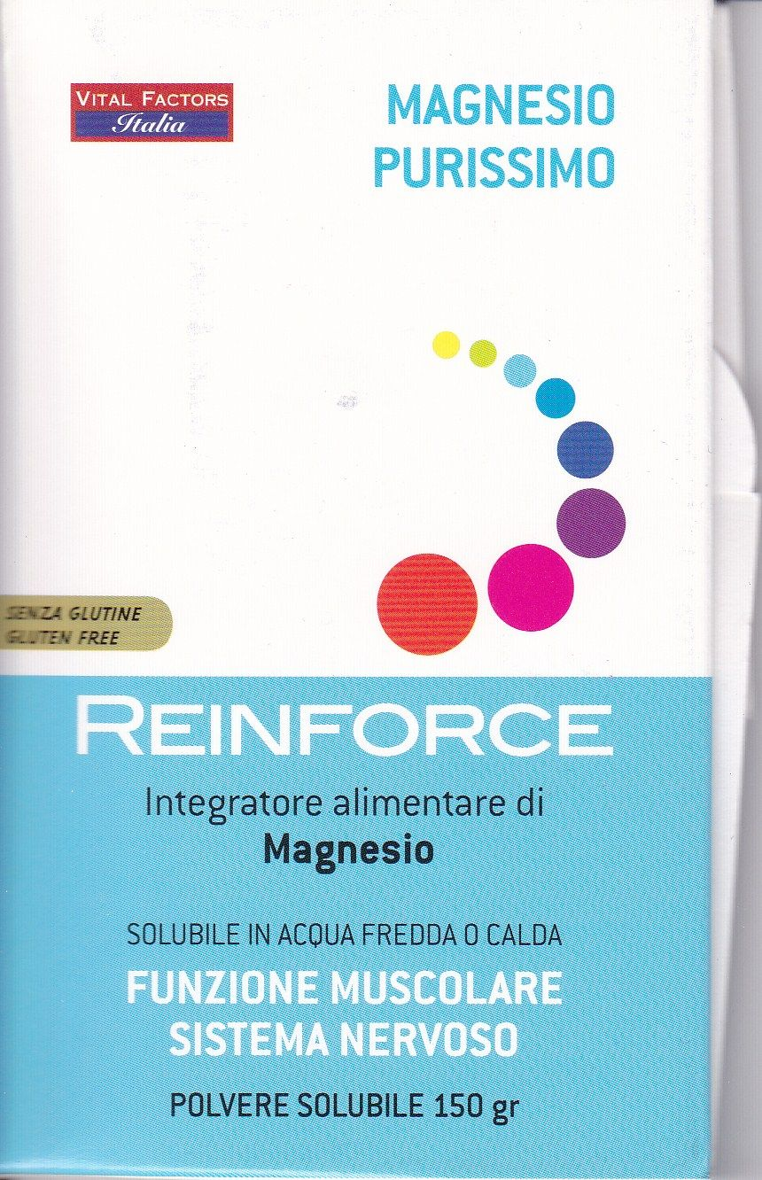 .MAGNESIO  PURISSIMO  REINFORCE 150 gr.-VITAL FACTORS