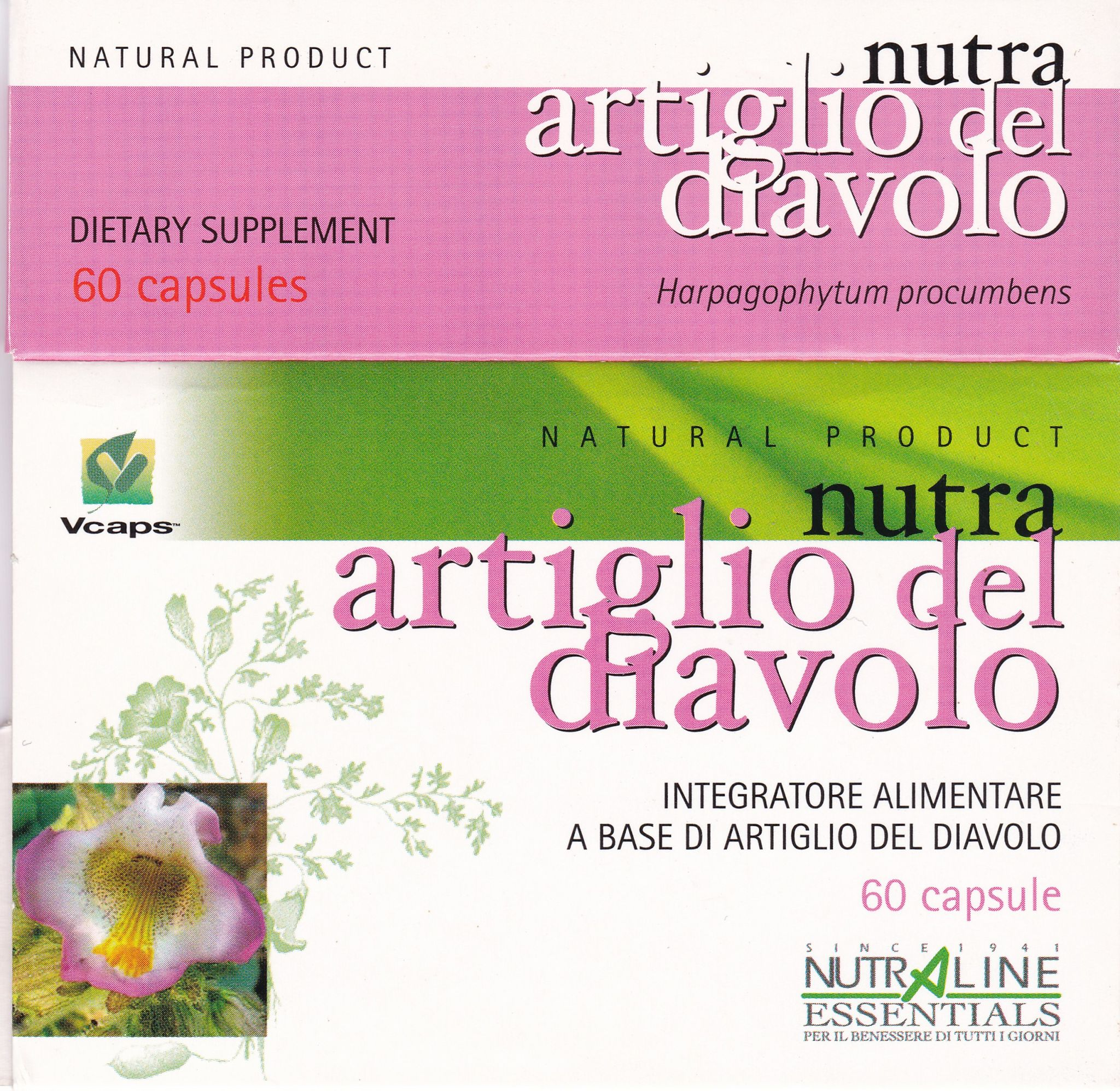 ARTIGLIO del DIAVOLO- 60 cps - NUTRA LINE ESSENTIALS