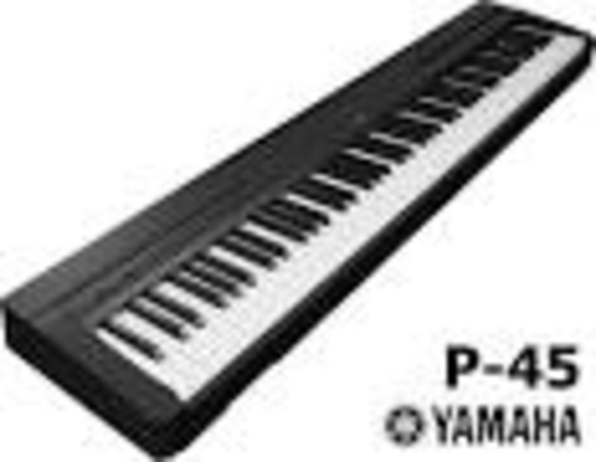 pianoforte digitale yamaha p45 88 tasti pesati con pedale sustain strumenti musicali tastiere. Black Bedroom Furniture Sets. Home Design Ideas
