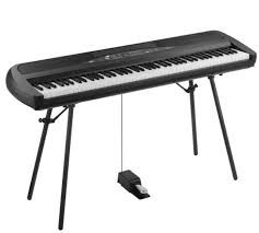 Pianoforte Korg SP 280 BK Digitale 88 Tasti Pesati con Supporto e Sustain
