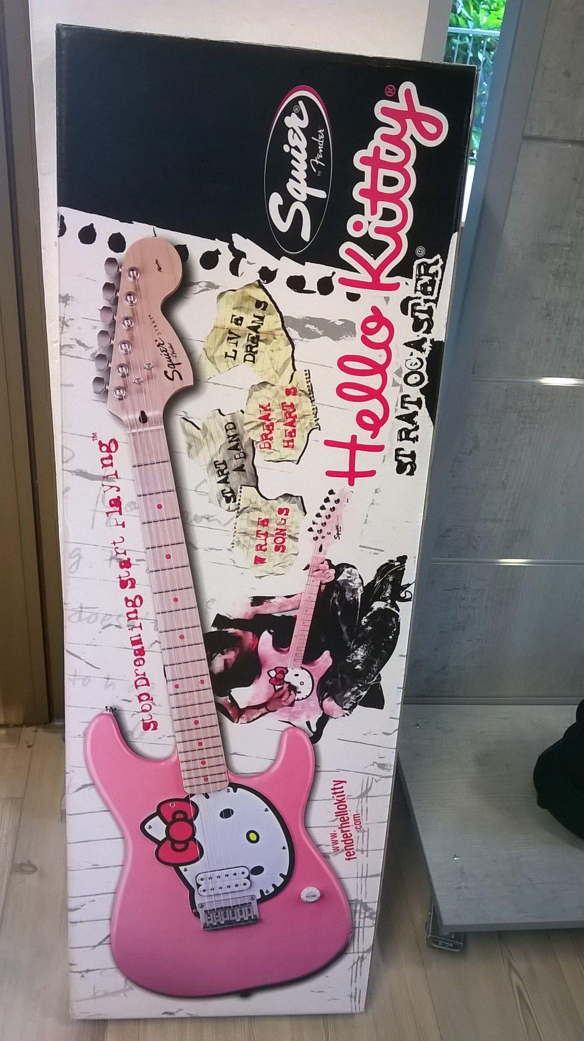 Chitarra Elettrica Squire Hello Kitty Nuova Imballo Originale