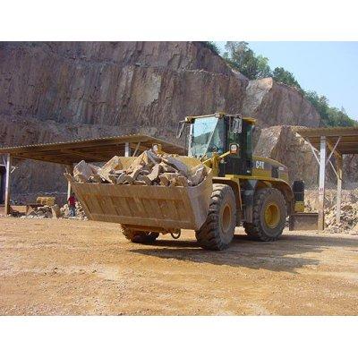 Benna standard - Rinforzata - Materiali leggeri - Alto ribaltamento - Griglia di chiusura - Roccia - Forca Pallet