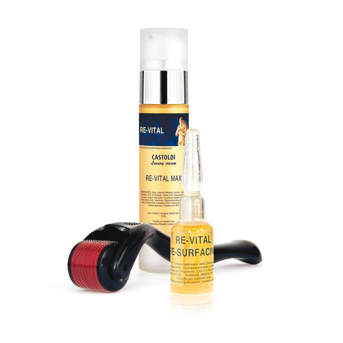 Re-Vital Max Cream 2% + Re-Vital Re-Surfacing Serum + Dermaroller